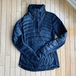 Lululemon Down for a Run Pullover Navy Coat 6